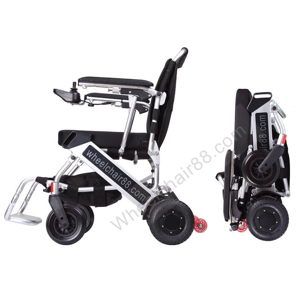 Lightest power wheelchair electric motorized foldable for Lightweight motorized folding wheelchair