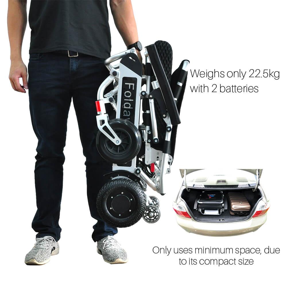 Pw 999ul Lightest Power Folding Wheelchair